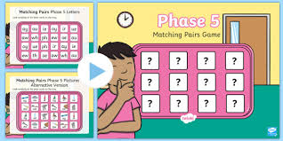 Matching Pairs Phase 5 Letters And Sounds Memory Powerpoint Game