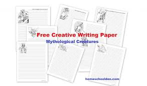 creative writing paper mythological creatures homeschool den  creative writing paper mythological creatures