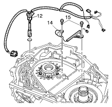 repair instructions input speed sensor and wiring harness input speed sensor and upper wiring harness removal installation