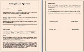 Company Loan To Employee Agreement Employee Loan Agreement Template Spacedesignagency Co