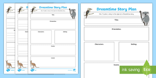How To Plan A Story Template Aboriginal Dreaming Story Plan Differentiated Writing