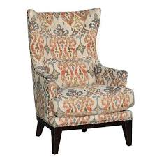 Patterned Wingback Chair