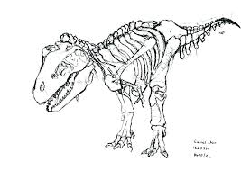 Coloring Skeleton Coloring Page Image Images Org At Dinosaur Pages