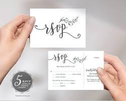 Rsvp Template Online Wedding Rsvp Postcard Card Editable Pdf Template Instant