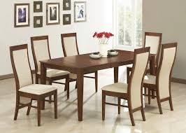 Fabric Chairs Dining Room Dinning Room Graceful Wood Furniture Dining Table And Chairs