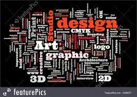 Words Associated With Graphic Design Illustration Of Graphic Design Studio
