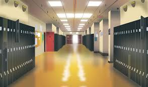 hallway at school. high school hallway by rtari at