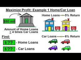 Linear Home Loans Business Math Linear Programming General Solution Optimization