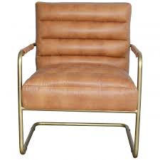 new pacific 9900001 vcd peyton bonded leather chair gold frame vintage cider