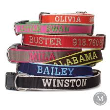 monogrammed dog collars. Chelsea Dog Collar Monogrammed Collars