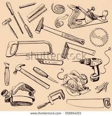 woodworking tools clipart. joinery icons set carpenter character at work woodworking tools of antique craft woodwork screwdriver table hamme clipart