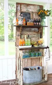 old door outdoor beverage station finding home