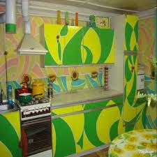 Green And Yellow Kitchen Kitchen Design Beautiful Kitchen Wall Stickers Fascinating Small