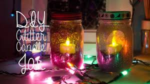 How To Decorate Candle Jars DIY Glitter Candle Mason Jar Room Decor YouTube 14