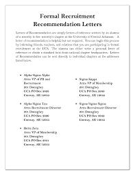 Sample Cover Letter For Sorority Recommendation Cover Letter