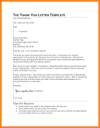 7 Formal Thank You Letter Format Abstract Sample