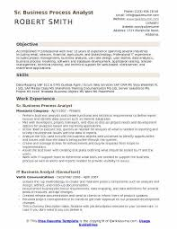 Sr. Business Process Analyst Resume Sample