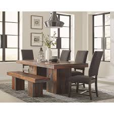 rustic dining room tables. Rustic Dining Table And Chairs. Scott Living Binghamton Set With Bench Room Tables 7