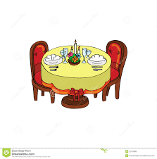 dinner table setting clipart. royalty-free stock photo. download dinner table setting clipart