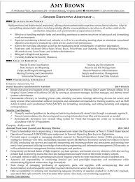 senior executive resume senior executive assistant resume sample resume samples