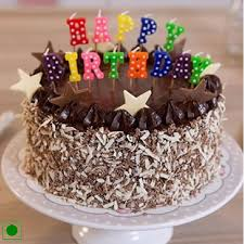 happy birthday chocolate cake with candles. Chocolate Walnut Cake Happy Birthday Candle Cakes Delivery Jaipur Rajasthan On With Candles