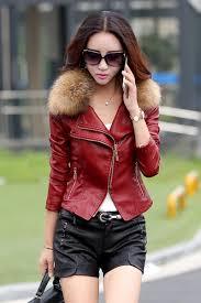 m 5xl women fashion leather jacket coat 2017 winter autumn plus size rac fur collar motorcycle pu leather outerwear