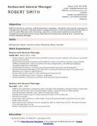 Restaurants Resume Examples Restaurant General Manager Resume Samples Qwikresume