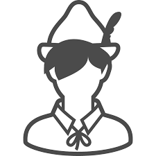 ピーターパンのフリーイラスト アイコン素材ダウンロードサイト