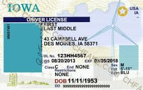 Fake Identification Buy Scannable Template Id Iowa