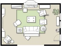 floor plan with furniture. furniture placement in a large room floor plan with