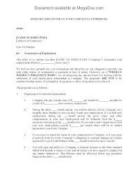Employment Contract Termination Letter Of Template Employee End Real