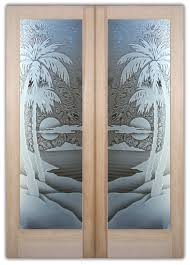 glass entry doors eclectic etched