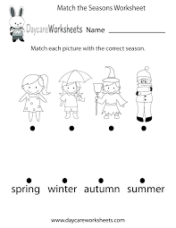 spring worksheets for kindergarten