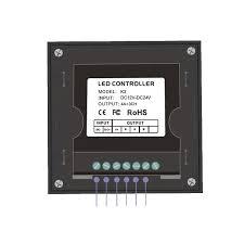 new k3 rotary knob led rgb controller 12v wall mount rgb controller rf wireless 5050 3528