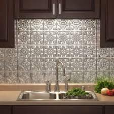 Fasade Traditional - 18 x 24 Brushed Aluminum Backsplash Panel