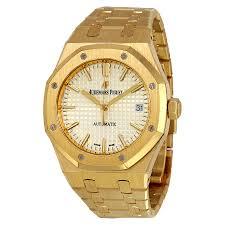 audemars piguet royal oak watches jomashop audemars piguet royal oak silver dial automatic 18 carat yellow gold ladies watch