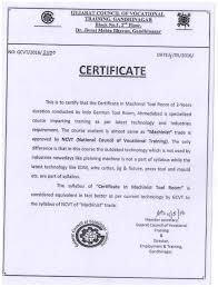 Certificate In Tool Die Making Training Centre Certificate In