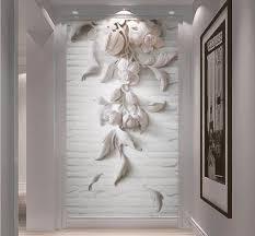 Beibehang Aangepaste Behang Mural 3d Driedimensionale Wit Europese