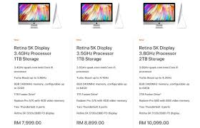 apple computer price in malaysia