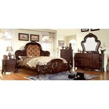 traditional bedroom furniture. Furniture Of America Tashir Traditional Style 4-Piece Cherry Bedroom Set