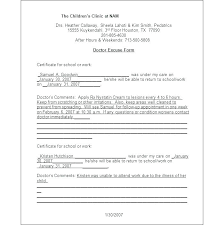 Houston Doctors Note Doctors Note For School Template Free Printable Doctor Notes