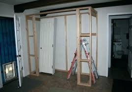 How to frame a closet Walls How To Frame Closet Framing Closet Bedroom Building Closet Wall Frame Closet Under Stairs Liveonlinetvinfo How To Frame Closet Picture Of Build Your Frame And Hang Drywall