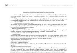 comparison of havisham and salome by carol ann duffy a level  document image preview