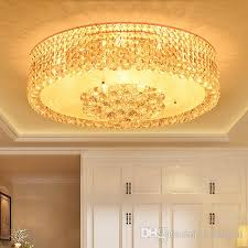 crystal ceiling chandelier luxury elegant royal modern round led chandelier lights for hotel villa living room bedroom ceiling chandeliers