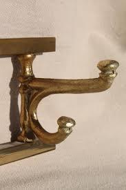 Solid Brass Coat Rack vintage mug rack or wall hanging coat hanger peg board solid brass 31