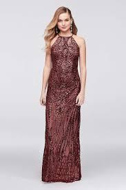 View Long Nightway Dress At Davids Bridal Necklines For