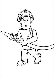 Kleurplaat Brandweerman Sam Kids N Fun School Stuff Fireman Sam