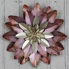 purple flower metal wall art 71 254 pu