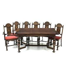 round oak dining table and 4 chairs set chair sets furniture style leather c round oak