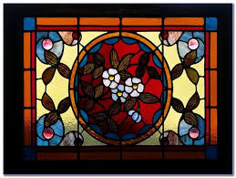 faux stained glass window clings